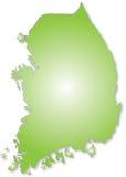 Kaart van Zuid-Korea royalty-vrije illustratie