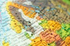 Kaart van Zweden Het beeld van de close-up Royalty-vrije Stock Afbeelding