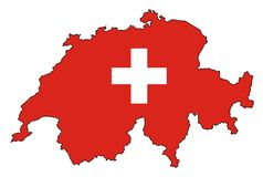 Kaart van Zwitserland Stock Afbeeldingen