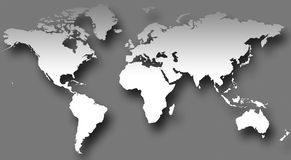 Kaart VI van de wereld royalty-vrije illustratie