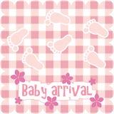 Kaart voor babymeisje Stock Afbeelding