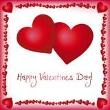 Kaart voor de dag van de Valentijnskaart Stock Foto