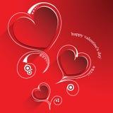 Kaart voor de dag van Valentine stock fotografie