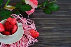 Kaart voor de dag van Valentine Royalty-vrije Stock Foto