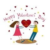Kaart voor de dag van Valentine Royalty-vrije Stock Afbeeldingen