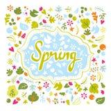 Kaart voor de lente Stock Fotografie