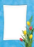 Kaart voor de vakantie met bloem Stock Fotografie