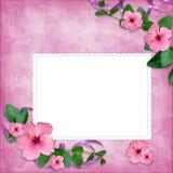 Kaart voor de vakantie met bloemen Royalty-vrije Stock Foto