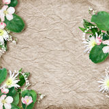 Kaart voor de vakantie met bloemen Royalty-vrije Stock Afbeelding