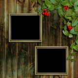 Kaart voor de vakantie met de herfstbladeren Royalty-vrije Stock Foto's