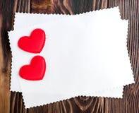 Kaart voor een dag van Valentine ` s Stock Foto's