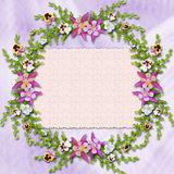 Kaart voor een foto of een uitnodiging Royalty-vrije Stock Foto