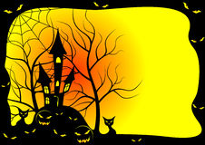 Kaart voor Halloween. Stock Foto
