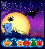 Kaart voor Halloween Royalty-vrije Stock Fotografie