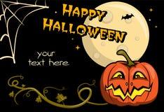 Kaart voor Halloween Royalty-vrije Stock Afbeeldingen