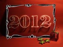 Kaart voor Kerstmis 2012 Royalty-vrije Stock Foto