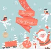 Kaart voor Kerstmis Royalty-vrije Stock Afbeelding