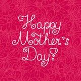 Kaart voor Moeder` s Dag Stock Afbeelding