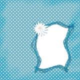 Kaart voor ontwerp met frame en bloemen Stock Afbeelding