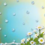 Kaart voor uitnodiging met boeket van bloemen Stock Afbeeldingen
