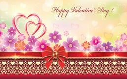 Kaart voor Valentijnskaartendag Royalty-vrije Stock Foto's