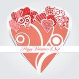 Kaart voor valentijnskaartendag Stock Foto