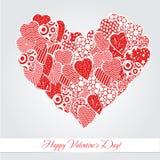 Kaart voor valentijnskaartendag Stock Fotografie