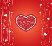 Kaart voor valentijnskaartendag Stock Afbeelding