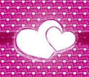 Kaart voor valentijnskaartendag Stock Afbeeldingen