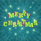 kaart Vrolijke Kerstmis Vector Vector Illustratie