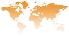 Kaart XII van de wereld stock illustratie