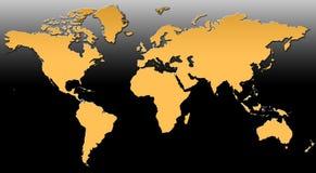 Kaart XV van de wereld stock illustratie