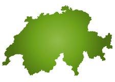 Kaart Zwitserland vector illustratie