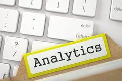 Kaartdossier met Analytics 3d Stock Fotografie