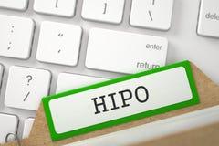 Kaartdossier met Inschrijving HIPO 3d Stock Foto's