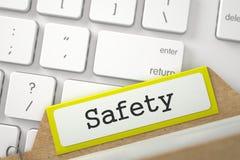 Kaartdossier met Inschrijvingsveiligheid 3d Royalty-vrije Stock Fotografie