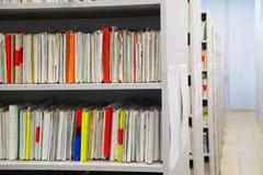 Kaartdossier van de documenten van het patiëntenziekenhuis royalty-vrije stock foto's