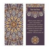 Kaarten of banners met sier cirkelornamenten Royalty-vrije Stock Afbeelding