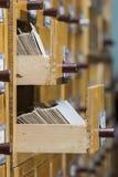 Kaarten in dozenarchief stock afbeelding