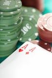 Kaarten en casinospaanders Royalty-vrije Stock Afbeelding