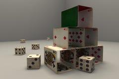 Kaarten en matrijzen Stock Afbeelding