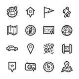 Kaarten en navigatiepictogrammen – Bazza-reeks Royalty-vrije Stock Fotografie