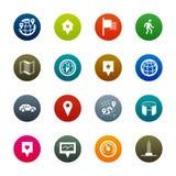 Kaarten en navigatiepictogrammen – Kirrkle-reeks Royalty-vrije Stock Fotografie