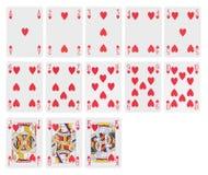 Kaarten - harten Stock Afbeelding