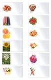 Kaarten met beelden Stock Foto
