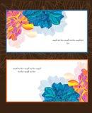 Kaarten met bloemenpatroon Stock Afbeelding