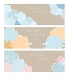 Kaarten met pioenen Stock Foto