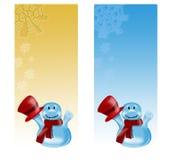 Kaarten met sneeuwman vector illustratie