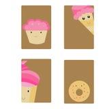 Kaarten met snoepjes Royalty-vrije Stock Fotografie