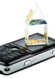 Kaarten SIM op de telefoon Royalty-vrije Stock Afbeeldingen